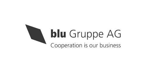blu Gruppe AG Cooperation is our business (Logo)