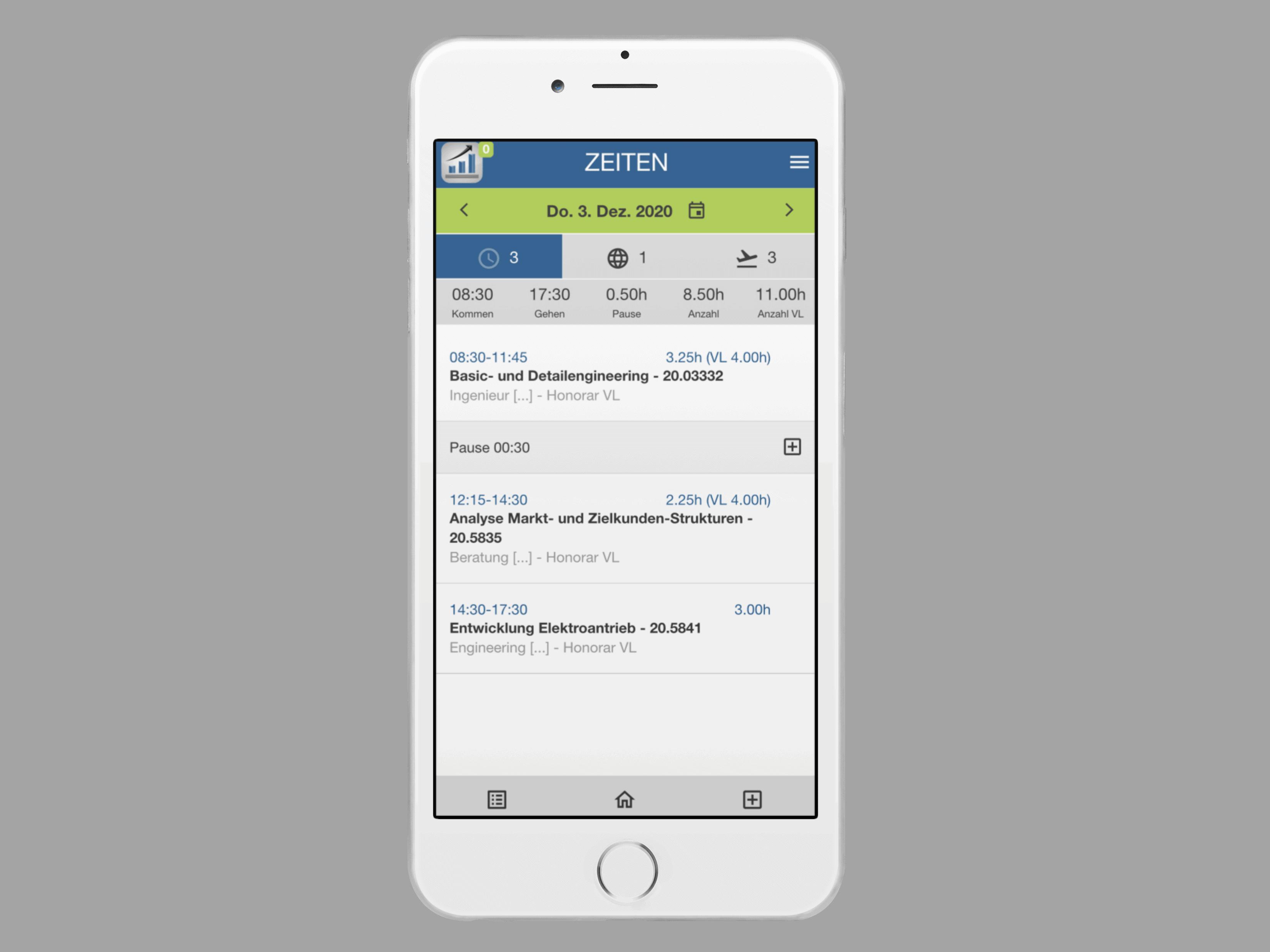 PACS Zeiterfassung App