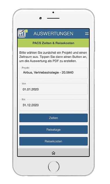 Auswertung als PDF & direkt ausdrucken