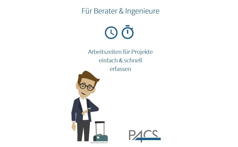 Demo PACS App: Arbeitszeiten erfassen