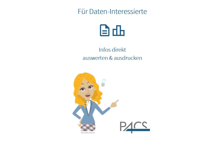 Demo PACS App: Arbeitszeiten und Reisekosten auswerten